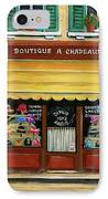 French Hats And Purses Boutique IPhone Case by Marilyn Dunlap