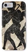 Fresco - Hunters IPhone Case by Michal Boubin