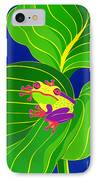 Frog On Leaf IPhone Case