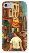 From Schwartz's To Warshaws To The  Main Steakhouse Montreal's Famous Landmarks By Carole Spandau  IPhone Case by Carole Spandau