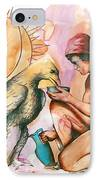 Ganymede And Zeus IPhone Case by Rene Capone