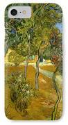 Garden Of Saint Paul's Hospital IPhone Case by Vincent van Gogh