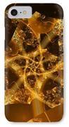 Garden Of The Golden Orbs IPhone Case by Ron Bissett