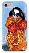 Geisha Chin IPhone Case by Kathleen Sepulveda