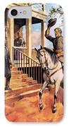 General Lee And His Horse 'traveller' Surrenders To General Grant By Mcconnell IPhone Case