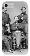 General Sherman And His Staff  IPhone Case by War Is Hell Store