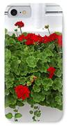 Geraniums On Window IPhone Case by Elena Elisseeva