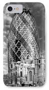 Gherkin And St Andrew's Black And White IPhone Case