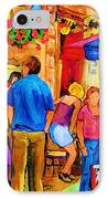 Girl In The Cafe IPhone Case by Carole Spandau