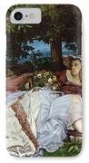 Girls On The Banks Of The Seine IPhone Case by Gustave Courbet