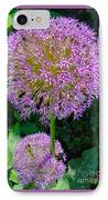 Globe Thistle Flowers IPhone Case by Corey Ford