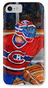 Goalie Makes The Save Stanley Cup Playoffs IPhone Case