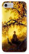 Golden Afternoon Meditation IPhone Case