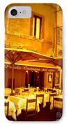 Golden Italian Cafe IPhone Case by Carol Groenen
