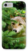 Golden Red Wolf IPhone Case by Debra     Vatalaro