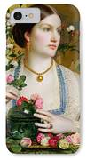 Grace Rose IPhone Case by Anthony Frederick Augustus Sandys