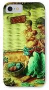 Granny And Grand Son IPhone Case by Pralhad Gurung