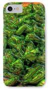 Green Bean Montage IPhone Case by Ron Bissett