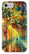 Green Dreams IPhone Case by Leonid Afremov