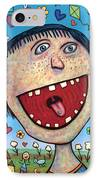 Happy Pill IPhone Case by James W Johnson