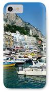 Harbor Of Isle Of Capri IPhone Case by Jon Berghoff