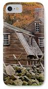 Hartwell Tarvern In Autumn IPhone Case by Susan Cole Kelly