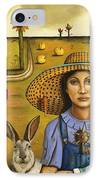 Harvey And The Eccentric Farmer IPhone Case by Leah Saulnier The Painting Maniac