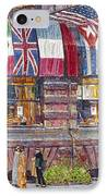 Hassam: Allied Flags, 1917 IPhone Case by Granger