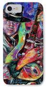 Hat And Guitar IPhone Case by Debra Hurd