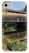 Hemlock Covered Bridge - Fryeburg Maine Usa. IPhone Case