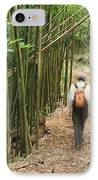 Hiker In Bamboo Forest IPhone Case by Greg Vaughn - Printscapes