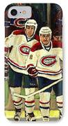 Hockey Art The Habs Fab Four IPhone Case by Carole Spandau