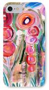 Hollyhocks Of The Garden IPhone Case by Mary Carol Williams