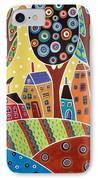 Houses Barn Landscape IPhone Case by Karla Gerard