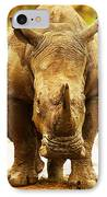 Huge South African Rhino IPhone Case by Anna Om