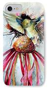 Humming Bird IPhone Case by Mindy Newman