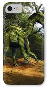 Iguanodon In The Jungle IPhone Case by Frank Wilson