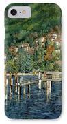 il porto di Bellano IPhone Case by Guido Borelli