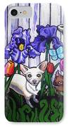 In The Chihuahua Garden Of Good And Evil IPhone Case by Genevieve Esson