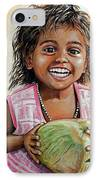 Indian Girl From The Slums IPhone Case by Mary Susanna Turcotte