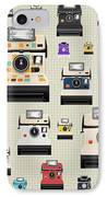 Instant Camera Pattern IPhone Case by Setsiri Silapasuwanchai
