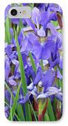 Iris Flowers Artwork Purple Irises 9 Botanical Garden Floral Art Baslee Troutman IPhone Case