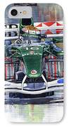 Jaguar R3 Cosworth F1 2002 Eddie Irvine IPhone Case by Yuriy  Shevchuk