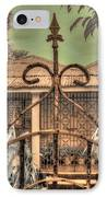 Jamaican Gate IPhone Case by Jane Linders