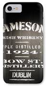 Jameson IPhone Case by Kelly Mezzapelle