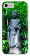 Japanese House Monk Statue IPhone Case by Bill Cannon