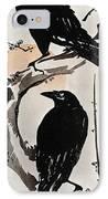 Japanese Print: Crow IPhone Case