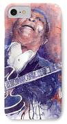 Jazz B B King 05 Red IPhone Case