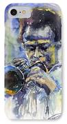 Jazz Miles Davis 12 IPhone Case by Yuriy  Shevchuk