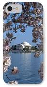 Jefferson Memorial On The Tidal Basin Ds051 IPhone Case by Gerry Gantt